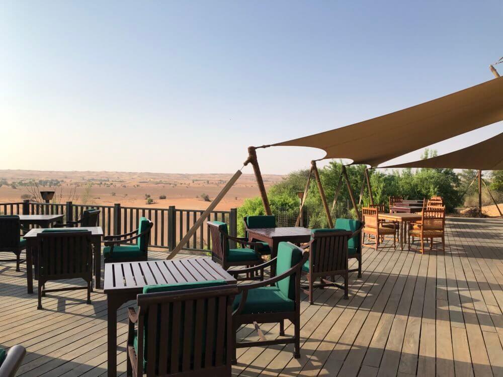 アルマハ ラグジュアリーコレクションのレストランからの景色(砂漠)