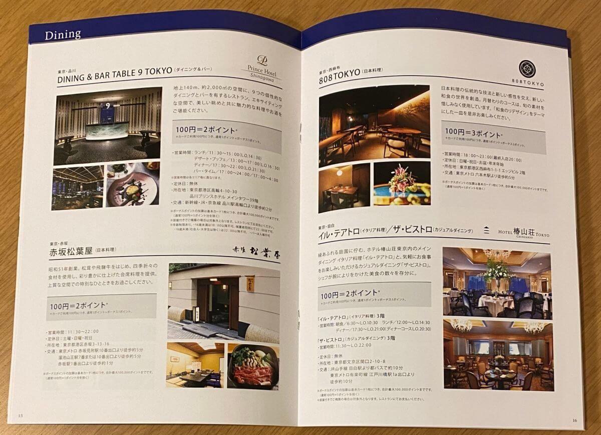 アメックスのメンバーシップ・リワード ボーナスポイント・パートナーズの加盟店紹介 (2)