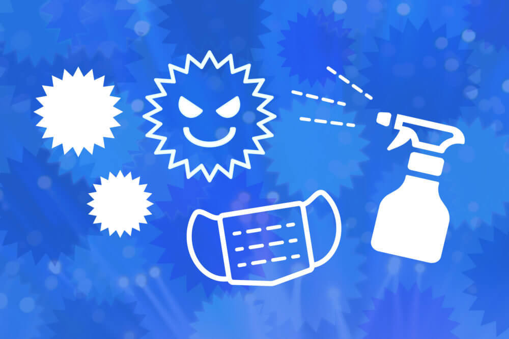 コロナウイルス感染対策のイメージ