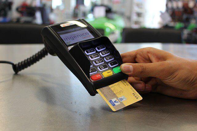 クレジットカードの決済端末