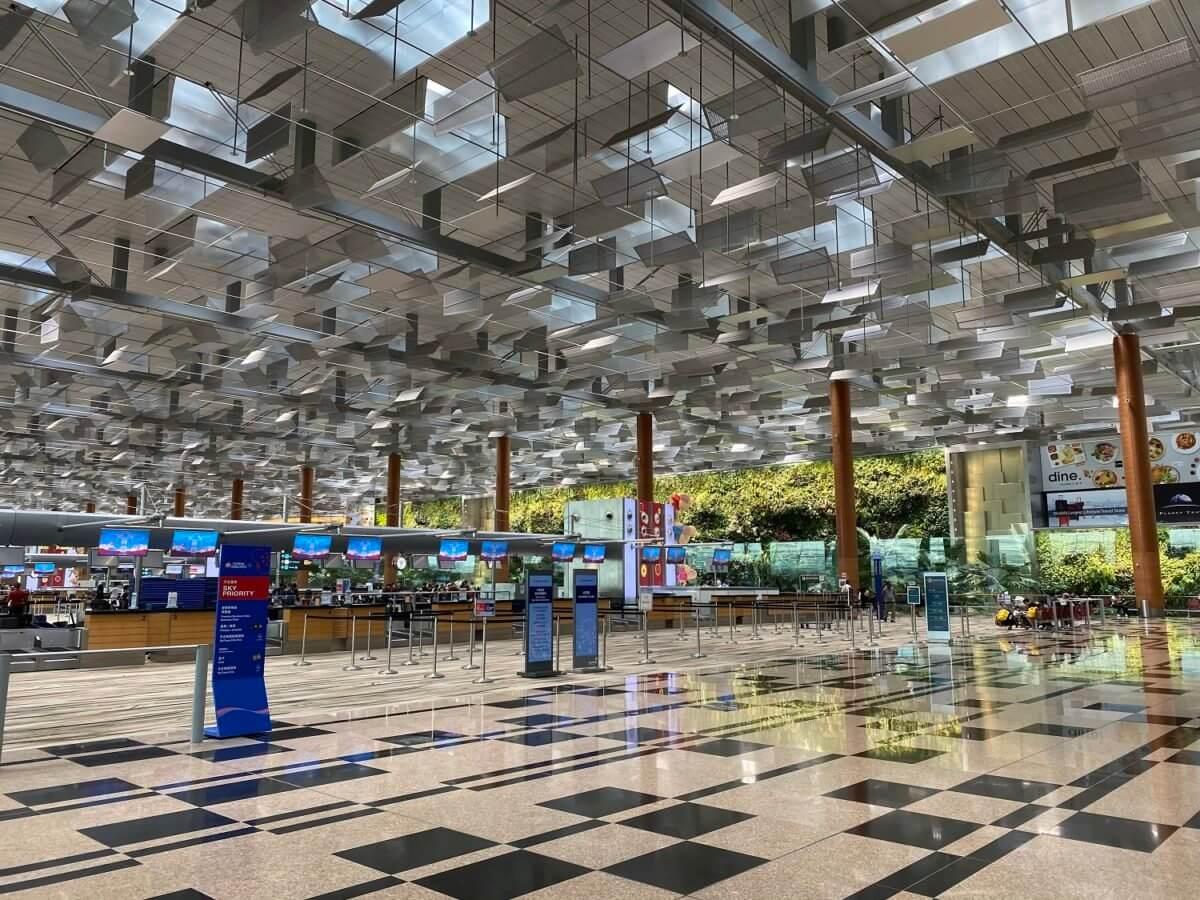 チャンギ国際空港のチェックインカウンター