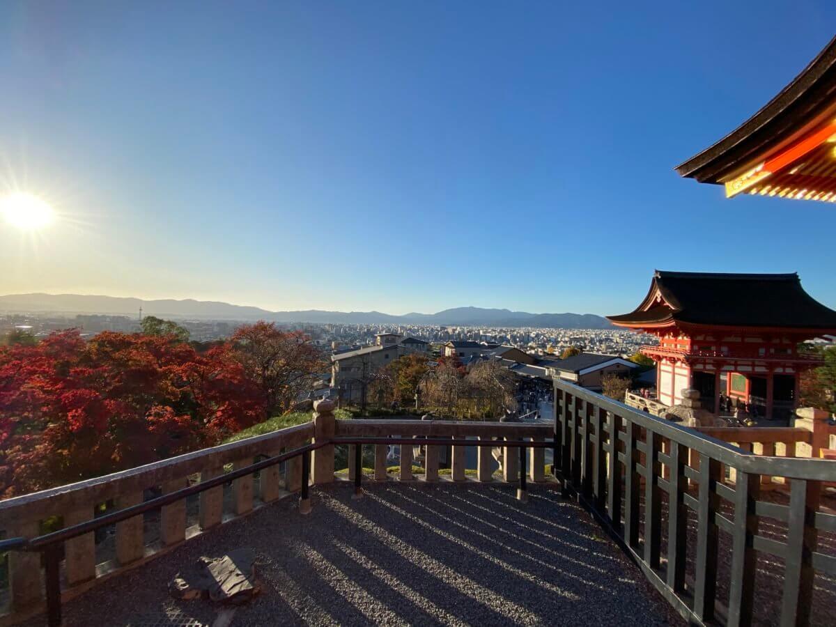 清水寺からの京都の町並み