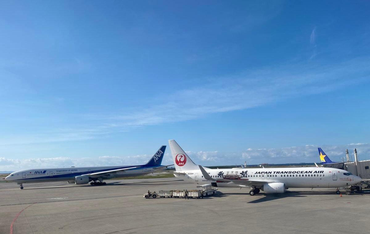 JALの飛行機とANAの飛行機 (2)