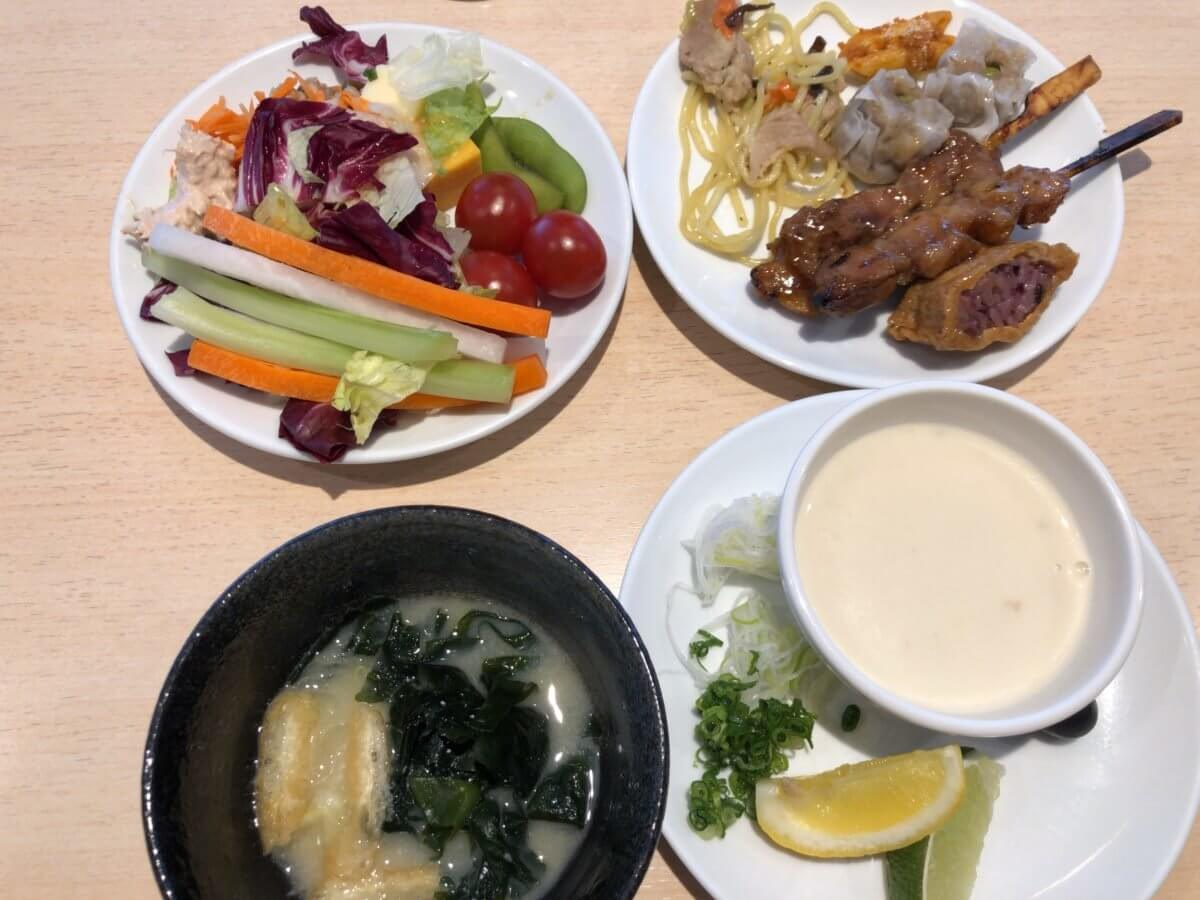 デルタスカイクラブの食事