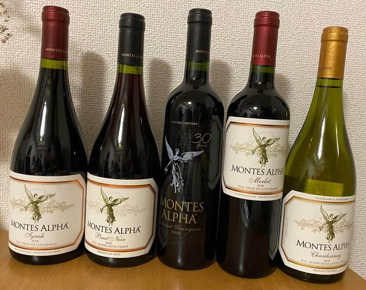 エノテカで購入したモンテスの赤ワイン